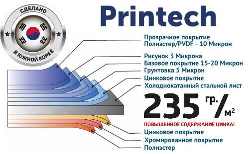 Премиум покрытие Printech (Корея)