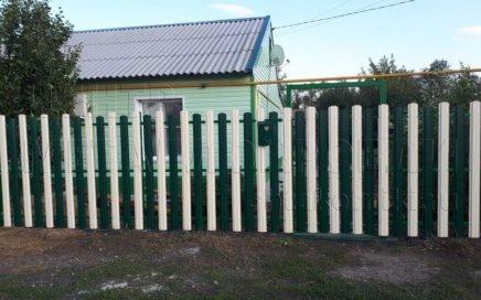 Дачный забор из штакетника широкого в Благовещенске