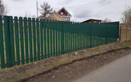 Забор из евроштакетника в Челябинске