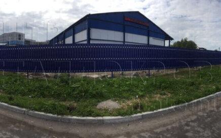 Штакетник для ограждения промышленного объекта в Мурманске