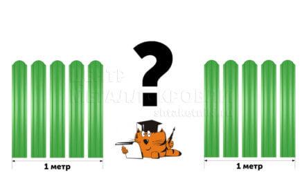 Сколько штакетника требуется на погонный метр забора