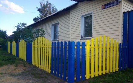 Забор из штакетника фигурного в Копейске