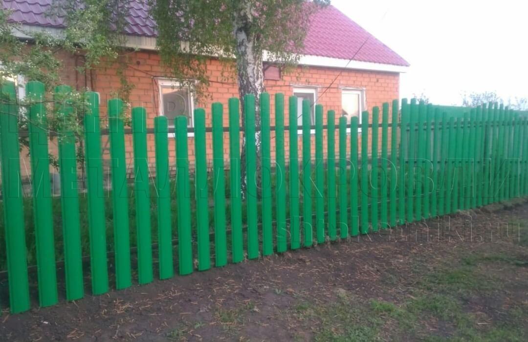 Забор из евроштакетника покрытие полиэстер Зеленая мята в Салавате