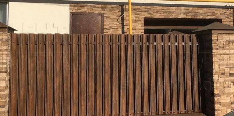 Забор из штакетника узкого в Екатеринбурге