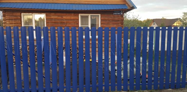Забор из евроштакетника от Центра Металлокровли в Челябинске