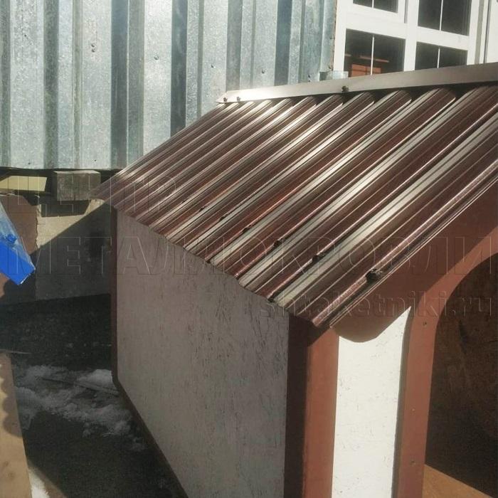 Крыша для будки из штакетника